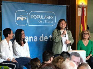La presidenta del PP de la Comunitat Valenciana, Isabel Bonig, este pasado sábado en L'Eliana.