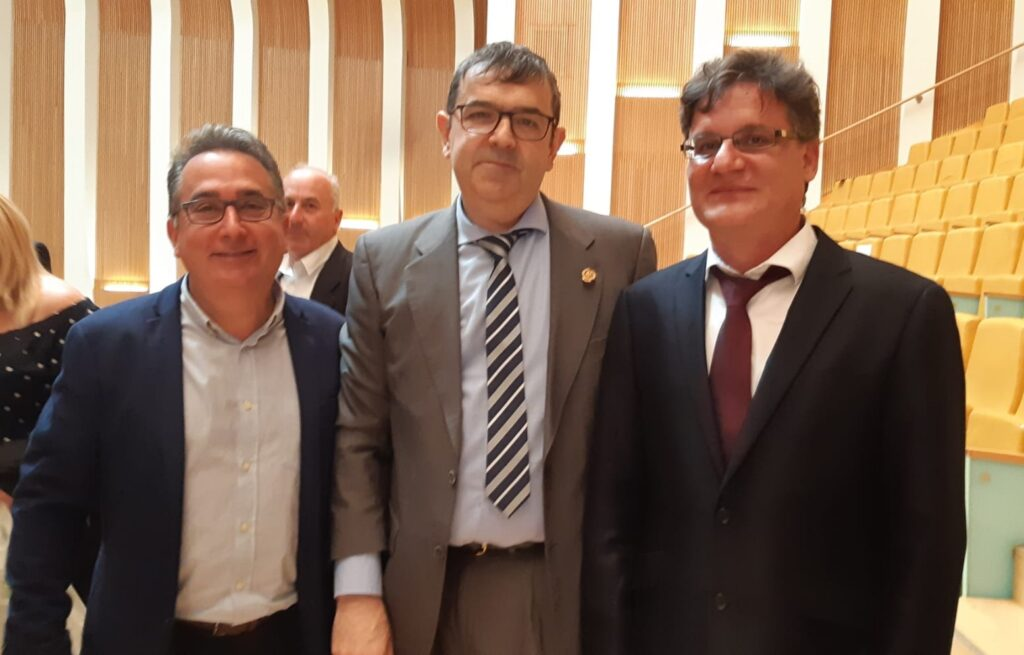 Miguel Tórtola, Joaquín Ortiz y Juan Manuel Alarcón.