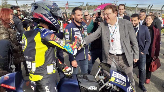 Ximo Puig destaca que la Generalitata apostará siempre por el GP de Motociclismo de Valencia.