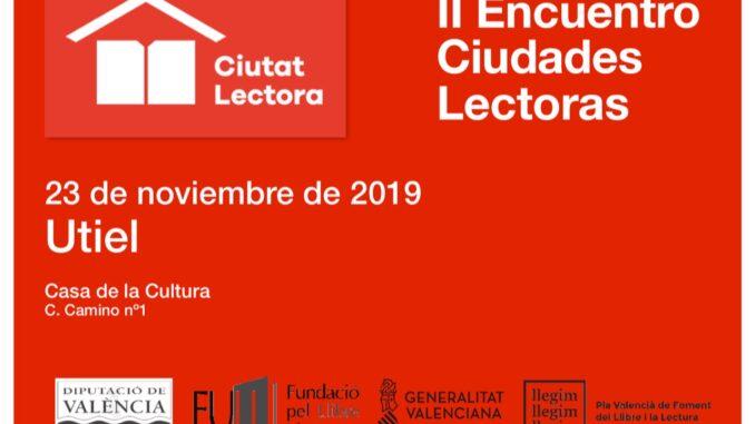 Cartel del II Encuentro de Ciudades Lectoras.