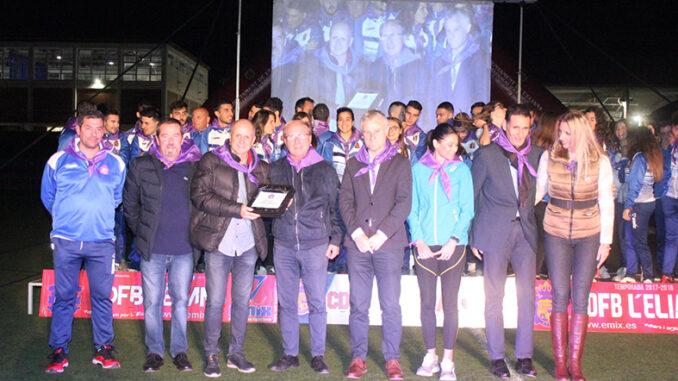 El CDFB L'Eliana celebra la presentación de sus equipos para la temporada 19/20.