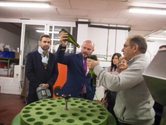 Gaspar apela a la modernización y el municipalismo en su visita a la Escuela de Viticultura de Requena.