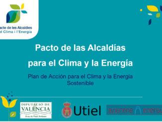 Utiel contará con su Plan de Acción para el Clima y la Energía en 2020.