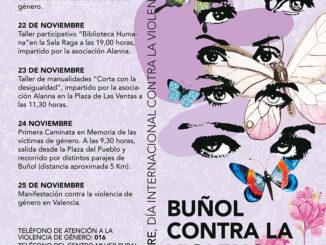 Buñol organiza este mes toda una serie de actividades contra la violencia de género.