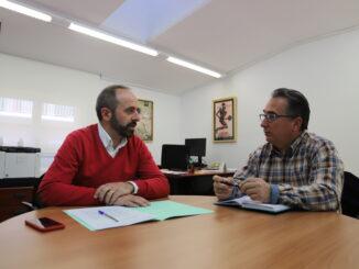 El diputado de Desarrollo Rural, Ramiro Rivera, y Miguel Tórtola.