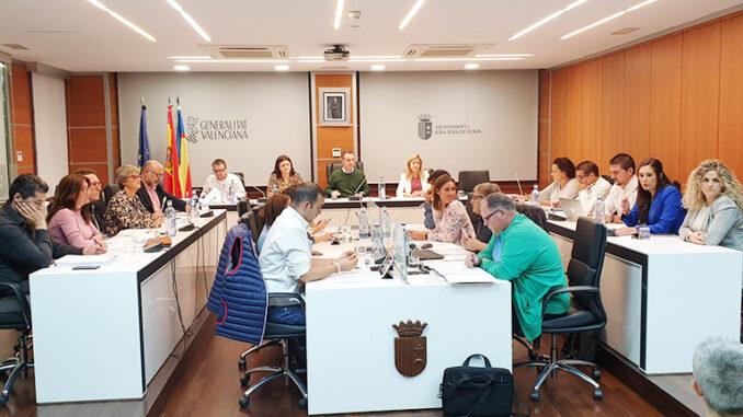 Pleno del Ayuntamiento de Riba-roja de Túria.