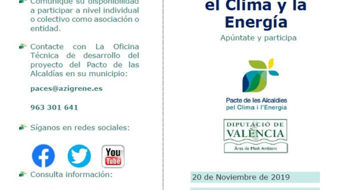 Utiel acogerá la jornada de participación ciudadana sobre el clima y la energía sostenible.
