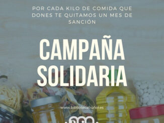 Campaña Solidaria de la Biblioteca Pública de Buñol a favor de Cáritas.