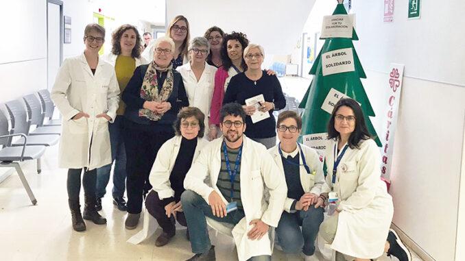 El Árbol Solidario estará presente en el Hospital y en el centro de Especialidades de Buñol.