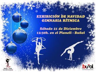Exhibición de Navidad de gimnasia rítmica en Buñol.