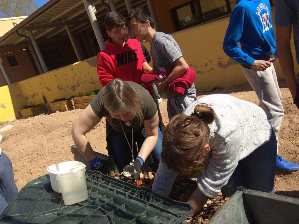 Actividades de compostaje realizadas en escuelas en 2019.