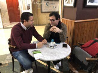 Javier Montero con Samuel Martínez.