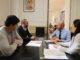 El alcalde de Ademuz, Ángel Andrés, se reúne con el presidente de la Diputació, Toni Gaspar.