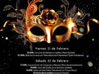 Hasta el próximo domingo 23 de febrero, Utiel celebra concursos de disfraces, desfiles pasacalles y sesiones de baile para celebrar la gran fiesta del Carnaval.