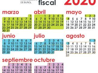 El Ayuntamiento de Buñol distribuye el calendario fiscal municipal en cada domicilio.