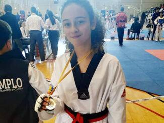 La joven taekwondista se coloca en primera posición de la liga de la Comunidad Valenciana.