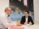 El alcalde de Higueruelas, Melanio Esteban, se reúne con el vicepresidente Fernández Bielsa.
