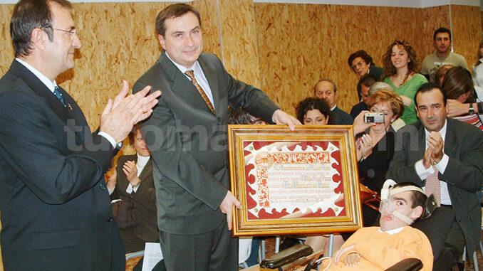 Imagen de archivo del acto de declaración de Pablo Cusí como Hijo Predilecto de Buñol.